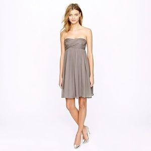 J. Crew Taryn Bridesmaid Dress Silk Gray Size 4